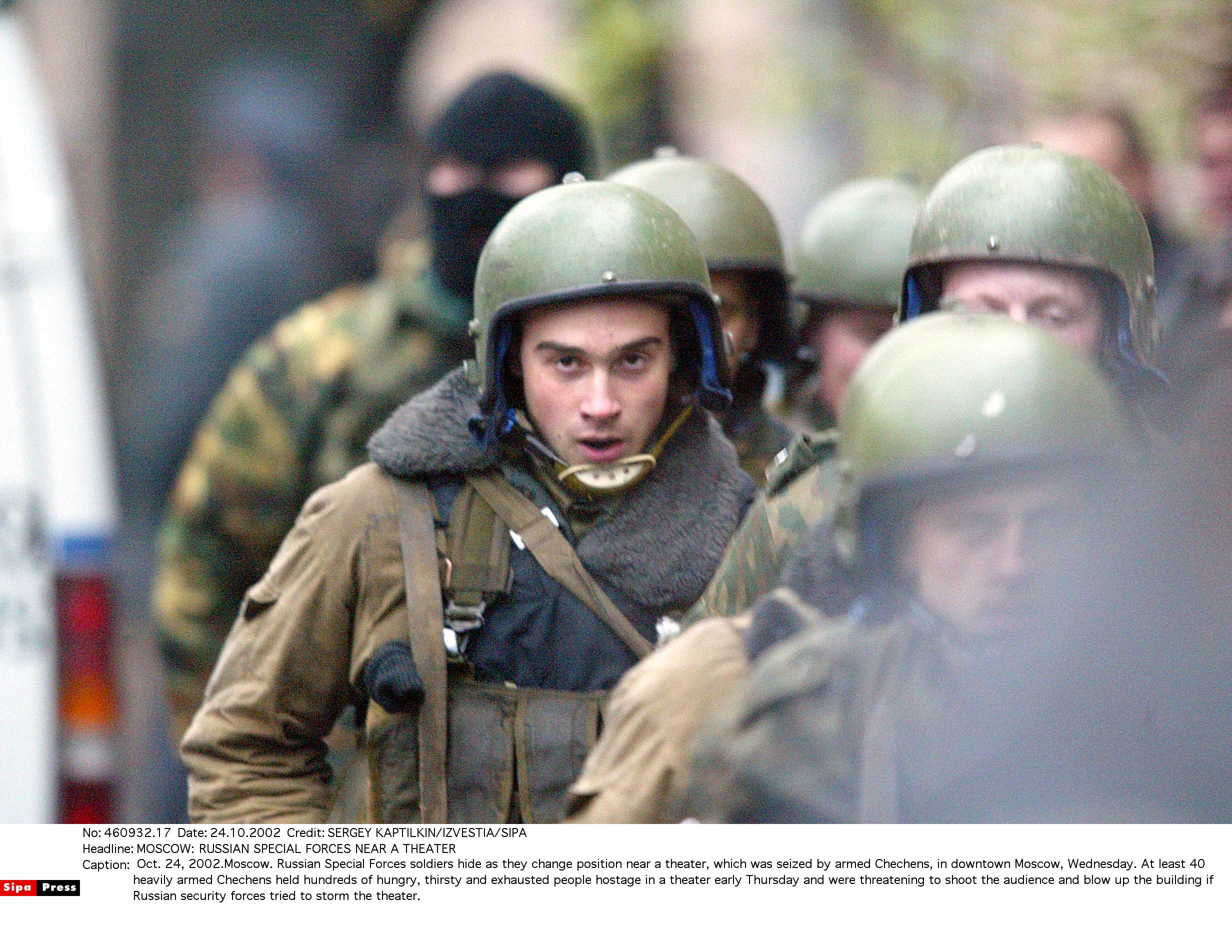 MOSCOW: RUSSIAN SPECIAL FORCES NEAR A THEATER