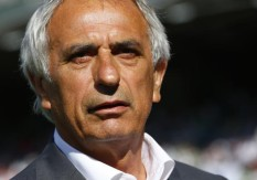 Algeria's national soccer team coach Halilhodzic looks on before international friendly soccer match in Sion